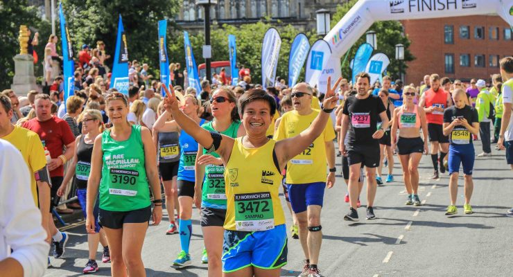 Running for charity at Run Norwich 2018