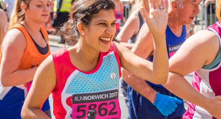 Runners at Run Norwich 2017