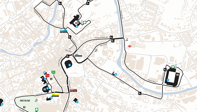 Run Norwich route map