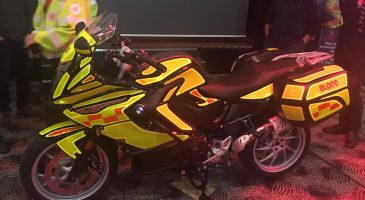 New blood bike unveiled thanks to Run Norwich fundraising