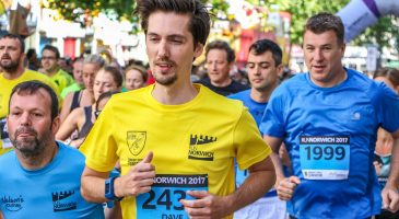 Run Norwich charity runner csf