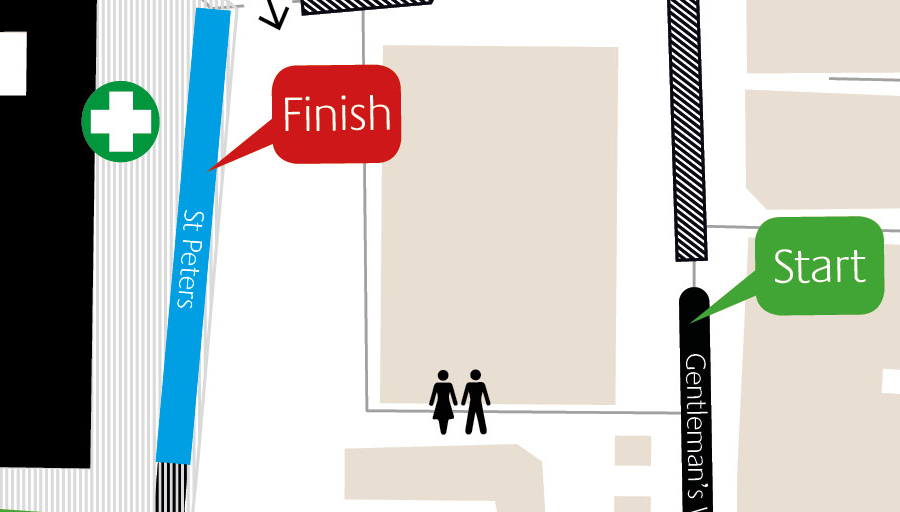 Start/Finish map