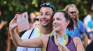 Selfie time in the Race Village