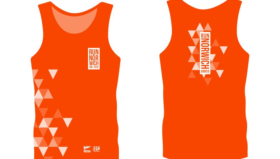 Race vest - Electric orange