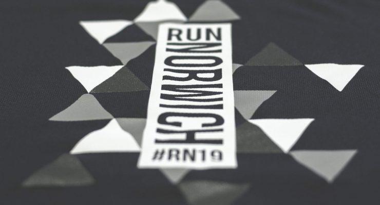 Runner wearing official merchandise
