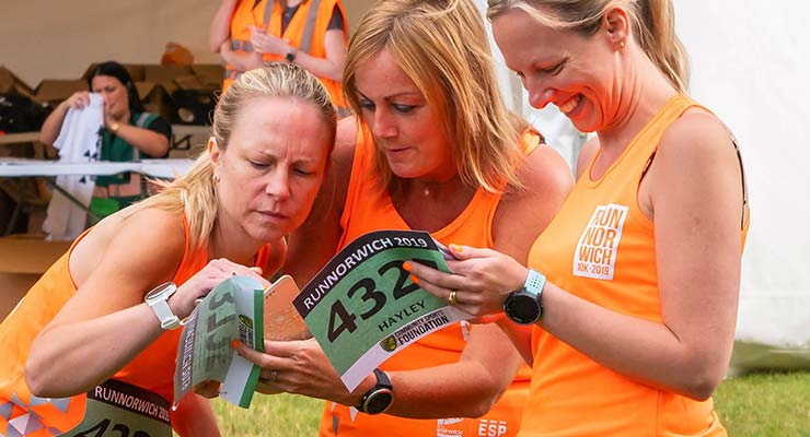 Personalise your race number